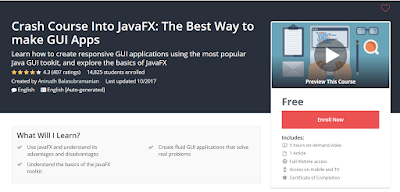 free course to learn Java FX