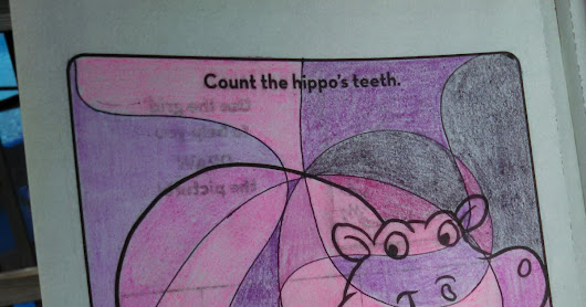 Hippo Smiles Adding Complexity to Simple Coloring Book Pages