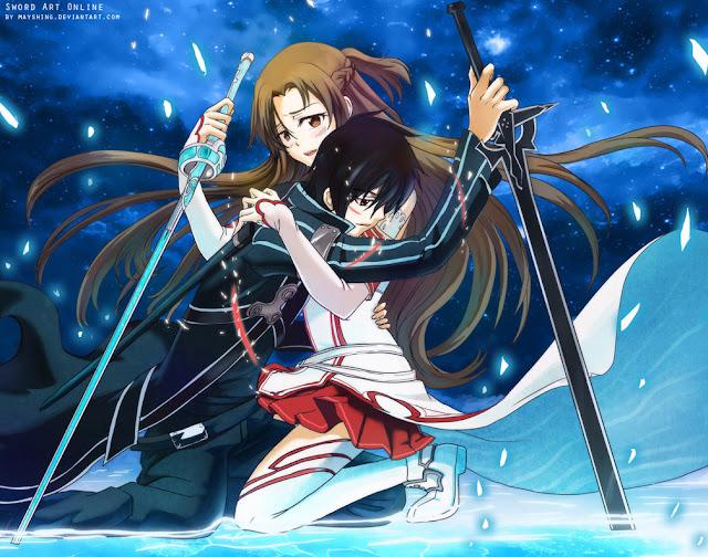Hd Wallpaper Kirito Asuna Sword Art Online 0208