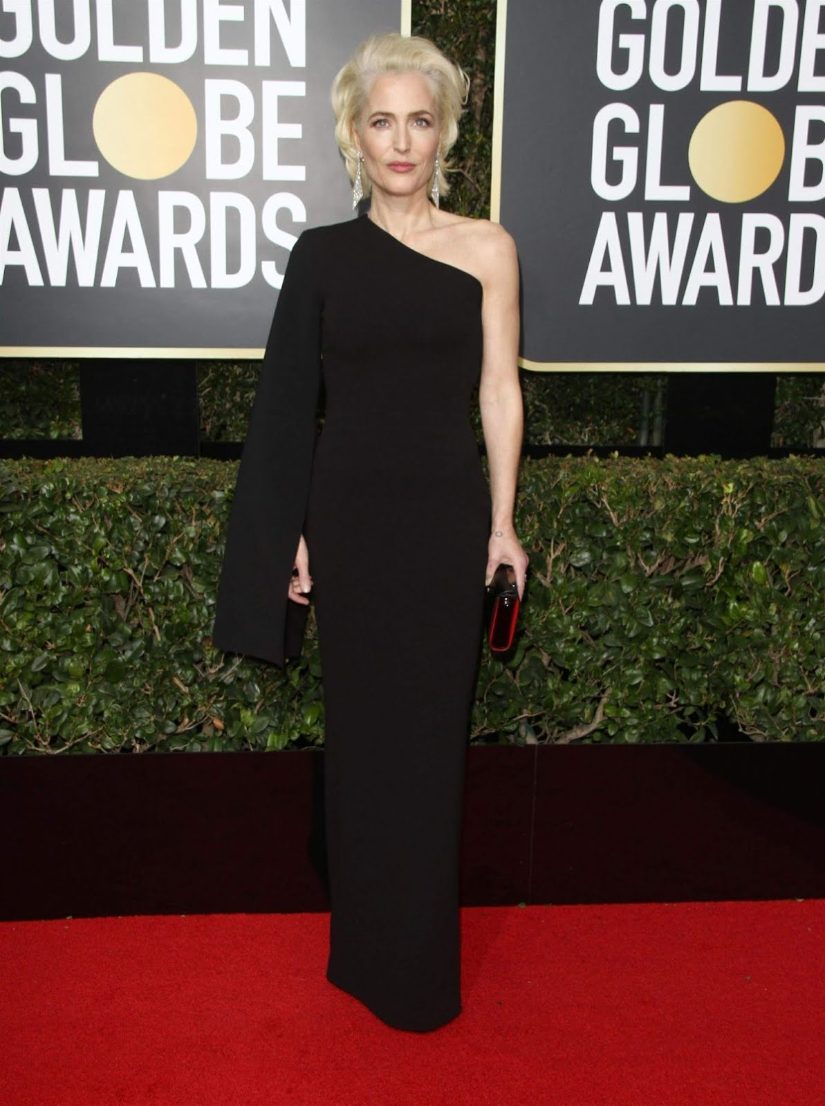 Gillian Anderson At 75Th Annual Golden Globe Awards In Beverly Hills