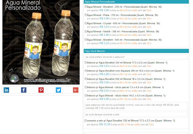 meno preço para água personalizada para festa e empresas