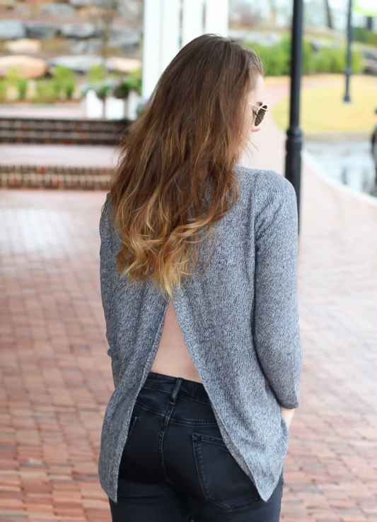 Open Back Sweater Details