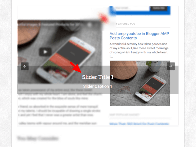 amp-carousel Popular Post widget image slider Blogger template