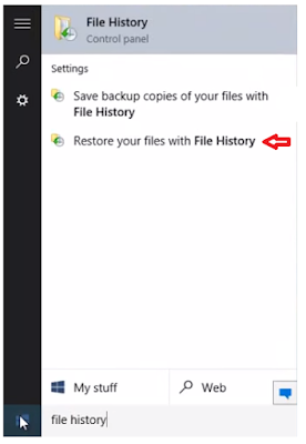restore files on windows 10 no software