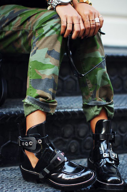 camo print pants fall street style