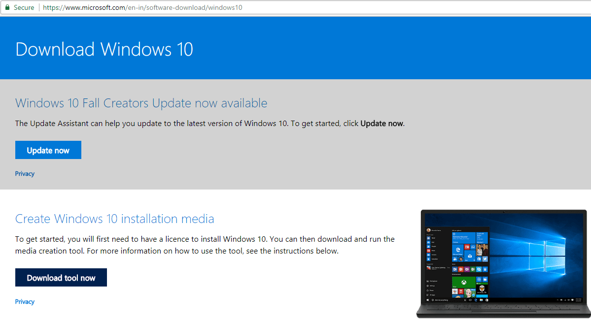Download Windows 10 New Version Disc Image ISO From