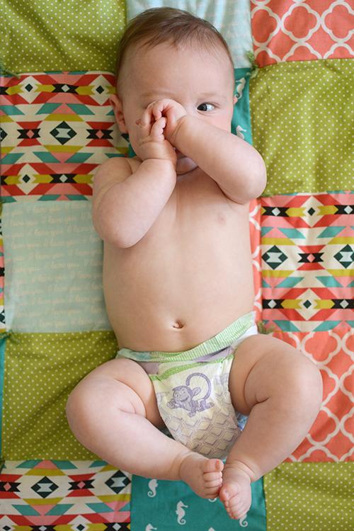 Ellis James, baby update - four months | My Darling Days