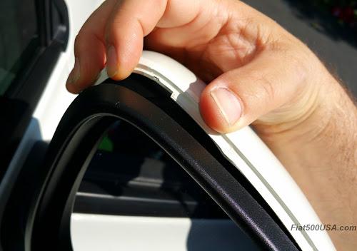 Fiat 500X Mirror Cover Slot