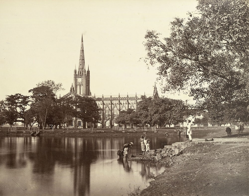 St Paul's Cathedral - Calcutta (Kolkata) 1865