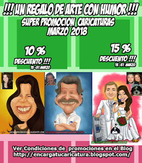 PROMOCION CARICATURAS MARZO 2018 (13 AL 31 )