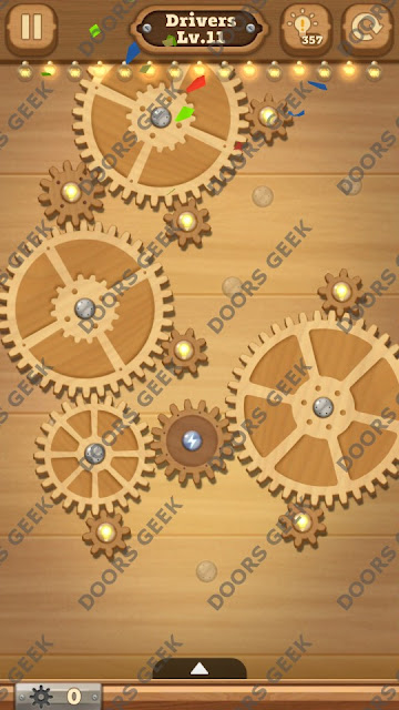 Fix it: Gear Puzzle [Drivers] Level 11 Solution, Cheats, Walkthrough for Android, iPhone, iPad and iPod