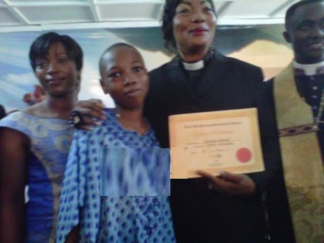 Eucharia Anunobi and son