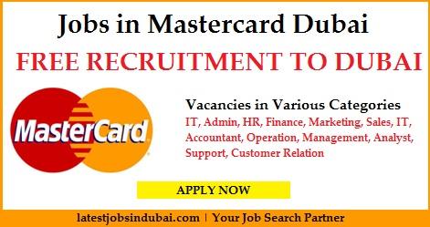 Latest jobs in Mastercard Dubai