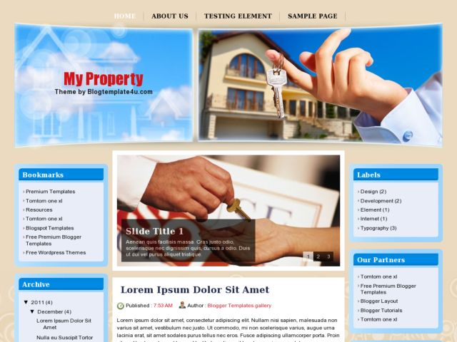 My Property Blogger Template