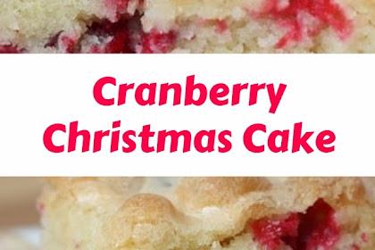 Cranberry Christmas Cake #christmas #cake
