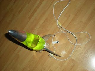original Mathmos Lavalampe Rocketlampe grün guter Zustand