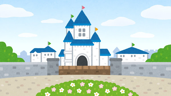 お城のイラスト(背景素材)