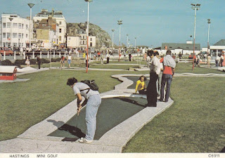 Hastings Mini Golf postcard C6911 by Judges Limited Hastings. Postally unused