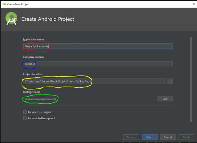 cara create new project di android studio dengan mudah