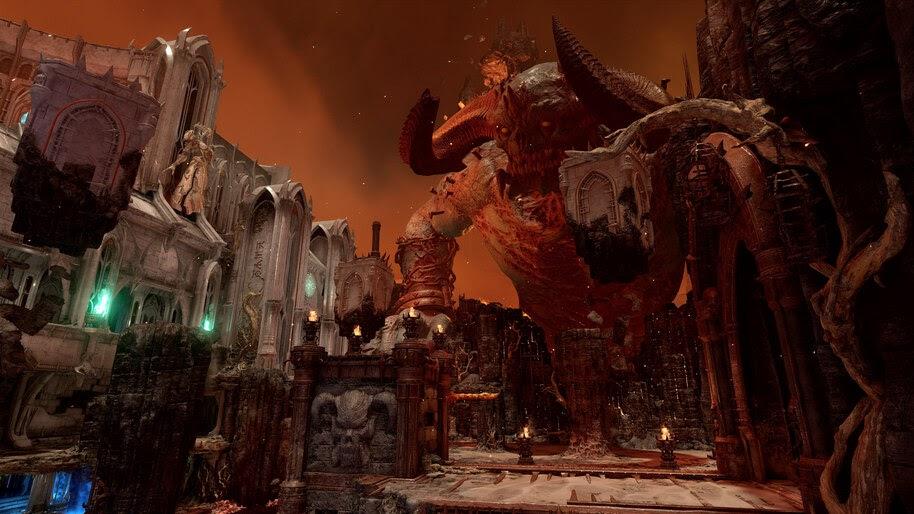 high quality doom eternal background