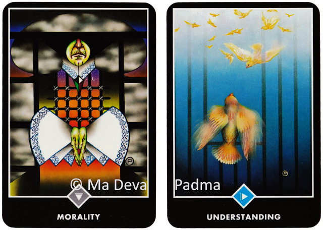 Osho Zen Tarot. Queen of Clouds Swords Knight of Water Cups