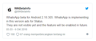 Siap-siap WhatsApp Android Bakalan Bertebaran Iklan
