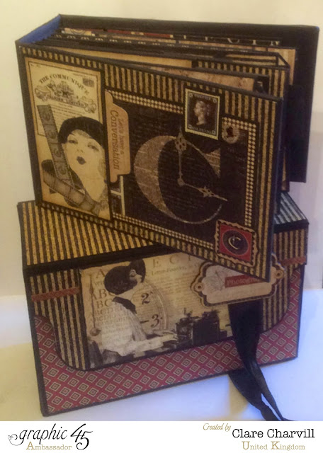 Communique album and case Clare Charvill graphic 45