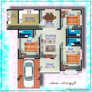 Best 3 Bedroom Low Budget Bungalow House Plan