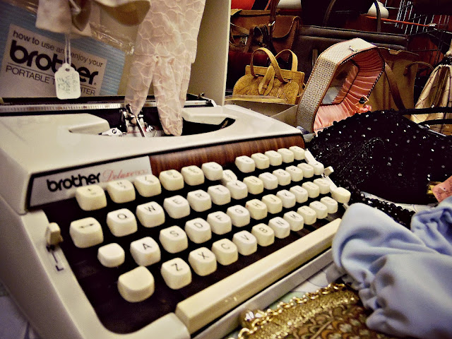 vintage typewriter at lou lou's vintage fair, Cardiff | ACupofT