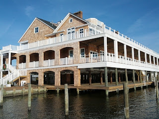 West end of the Bay Head Yacht Club building, Bay Head, New Jersey