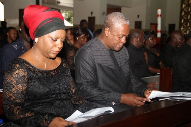 Valerie Sawyer (ex-Deputy Chief-of-Staff) and ex-President John Mahama (Right)