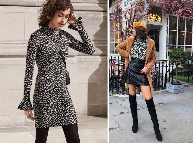 Черно-белое леопардовое платье и мини юбка
