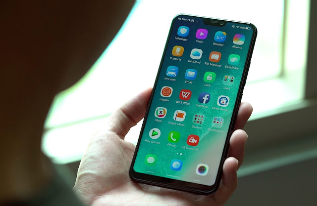 Vivo V9 Smartphone Layar Penuh Berponi