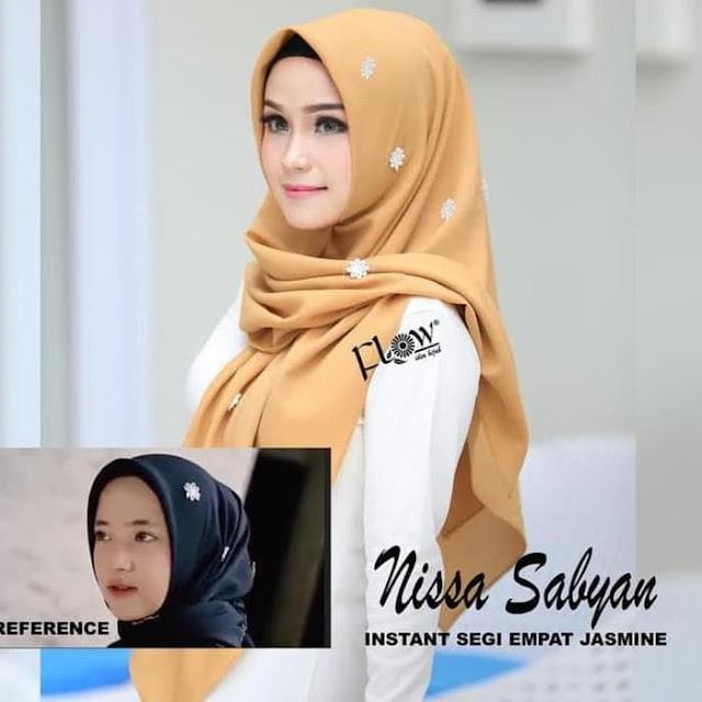Jilbab Terbaru Segiempat Nissa Sabyan Jasmine Instan By Flow