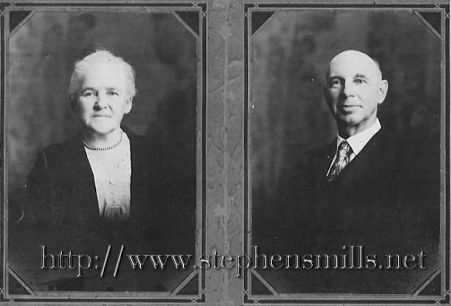 Left - Fannie Laura Herrick Cox - Sister of  Mary Estella Herrick Harwood  Parents Johnathan Swift Herrick and Hannah W. Brickett.  Right - Oscar Noyes Cox