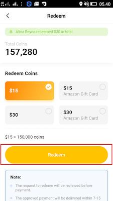 cara menukarkan coins dengan dollar paypal di aplikasi Veeu