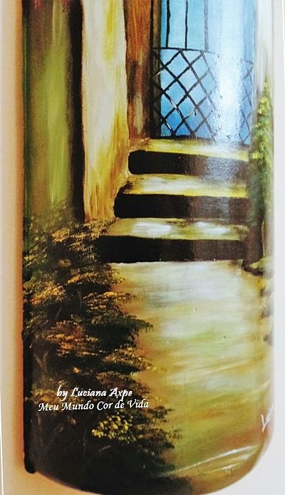 telha pintada á mão