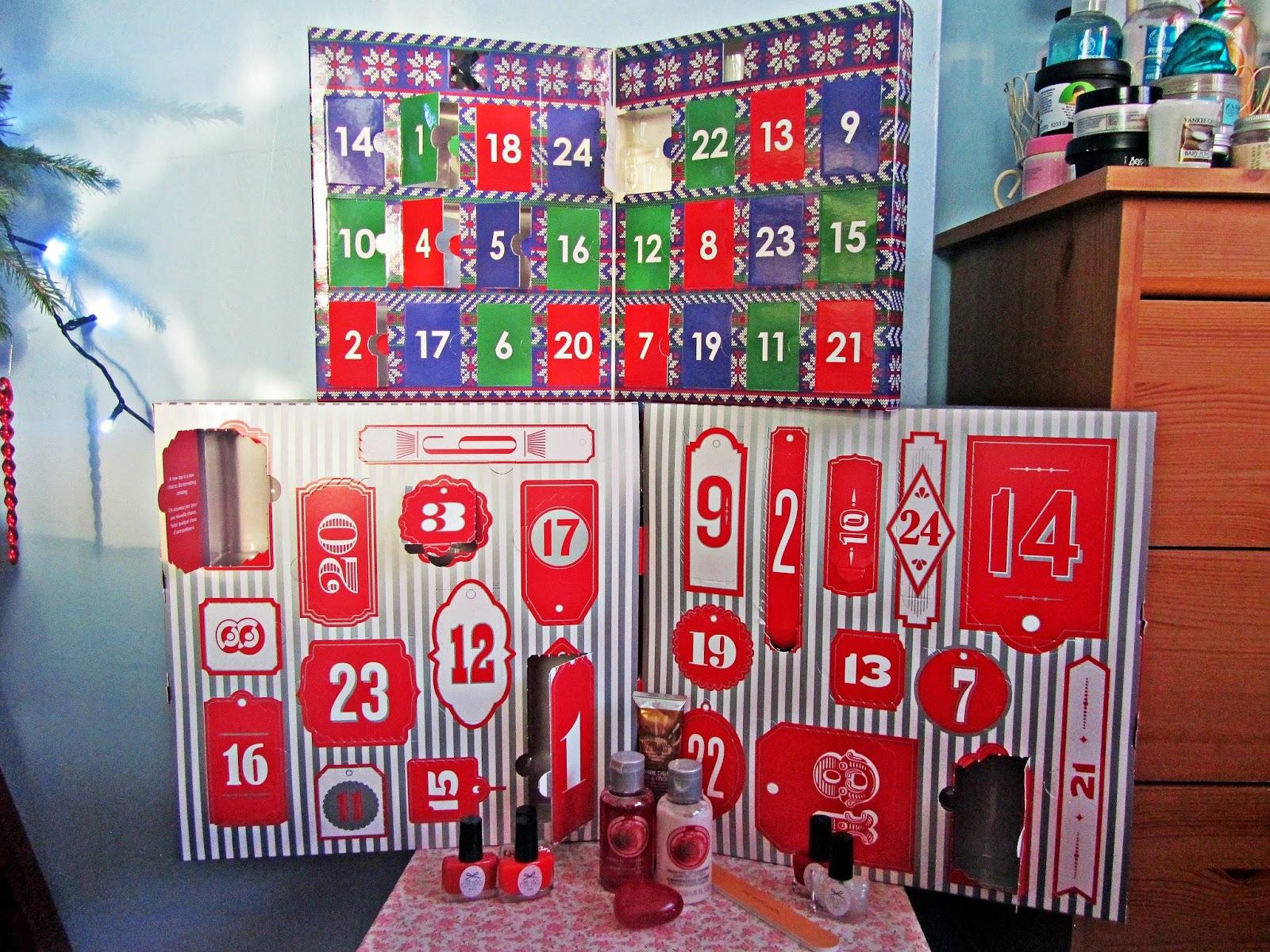 the body shop and ciat advent calendars dec 1st 5th. Black Bedroom Furniture Sets. Home Design Ideas