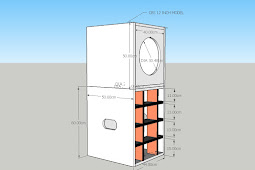 Skema Dan Ukuran Box Speaker Model CBS 12 Inch