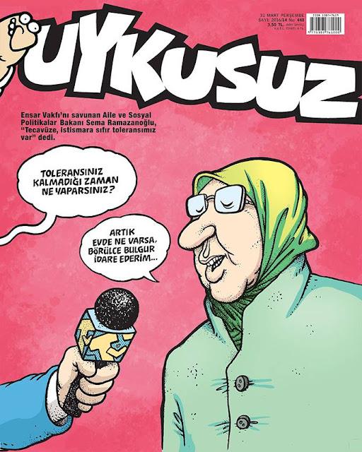 Uykusuz Dergisi - 31 Mart 2016 Kapak Karikatürü