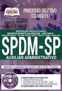Baixar Apostila SPDM SP 2018 (CG 003/15) PDF