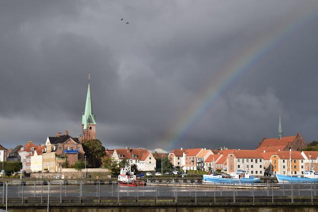 helsingor, denmark, rainbow