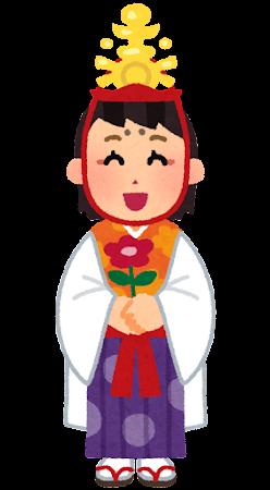 稚児のイラスト(女の子)