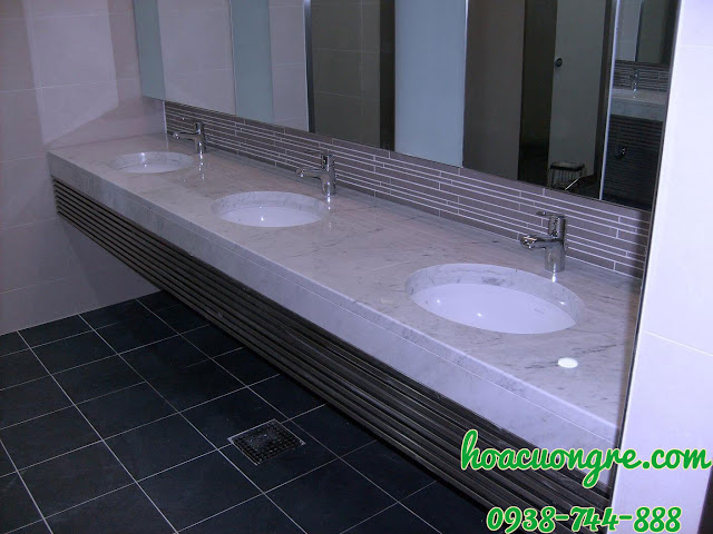 mặt bàn đá lavabo