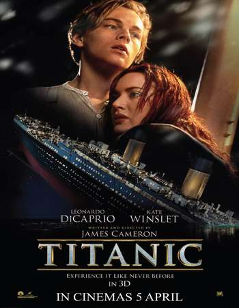Poster Of Titanic 1997 Dual Audio 550MB BRRip 720p [Hindi - English] - HEVC Free Download Watch Online Worldfree4u