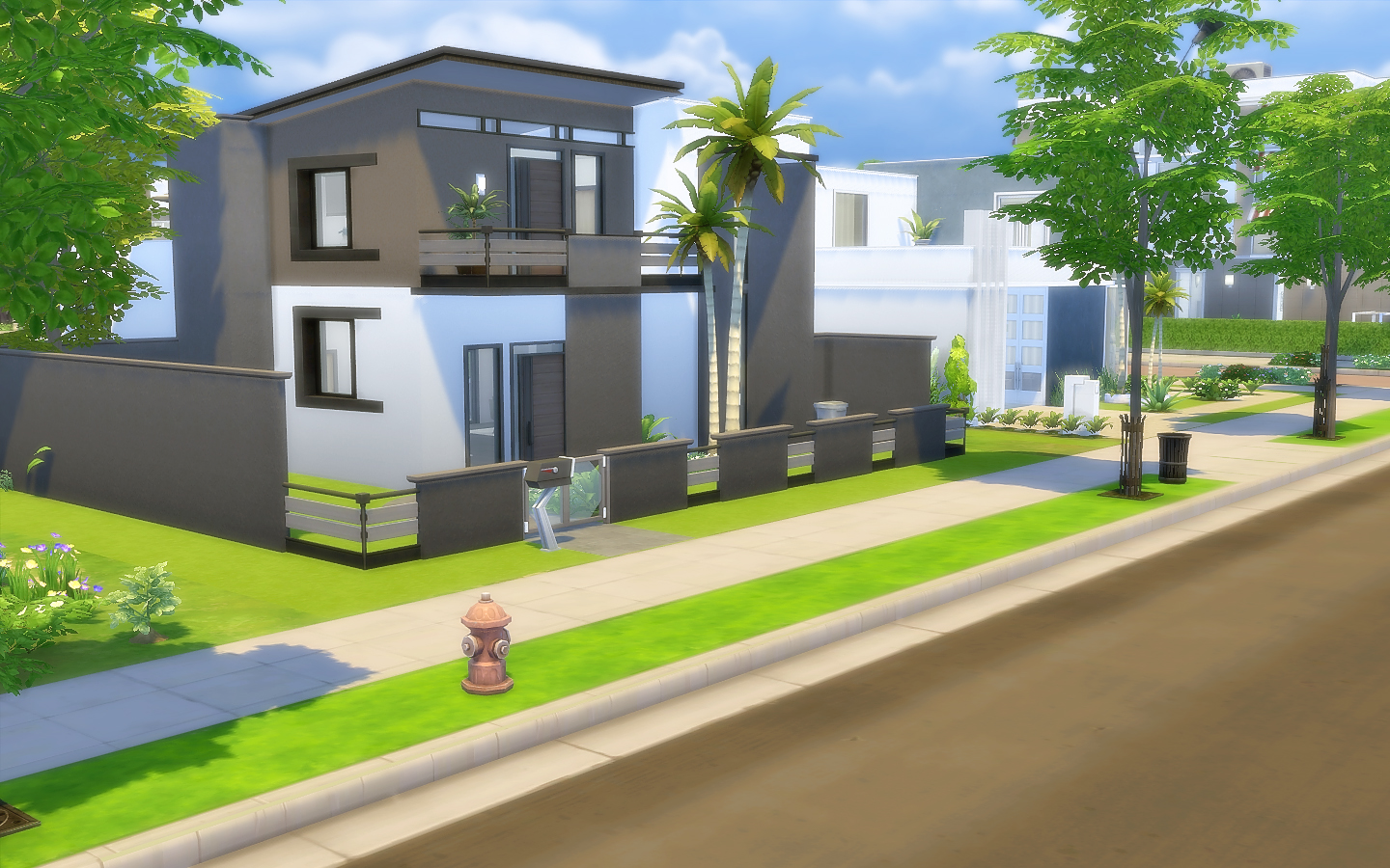 house 40 modern small the sims 4 via sims. Black Bedroom Furniture Sets. Home Design Ideas