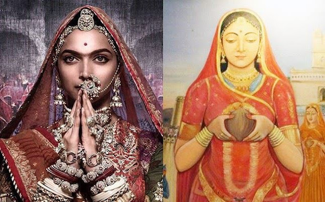Deepika Padukone in Padmavati Movie and Rani Padmini Picture