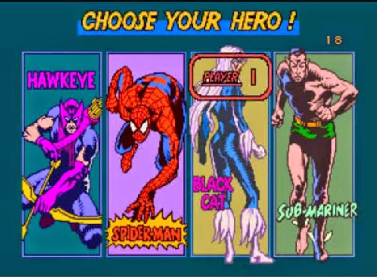 spider-man marvel arcade game