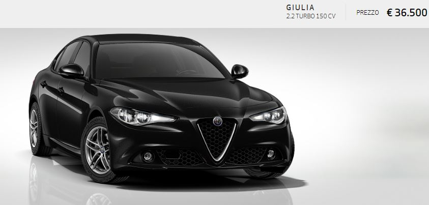 Alfa Romeo Giulia colore Metallizzato-Nero Vulcano