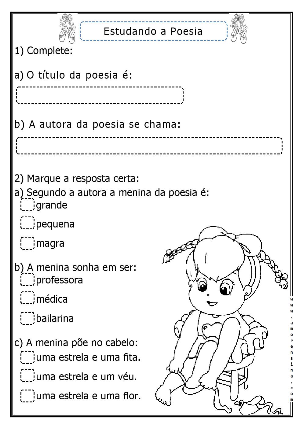 Extremamente OBA! A BAILARINA DE CECÍLIA MEIRELES PARA O 2º ANO! ~ Alfabetizar  EB36